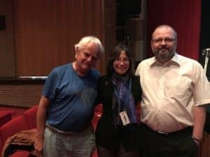 OMF's Linda Tannenbaum with Rob Wijbenga and Eddy Keuninckx